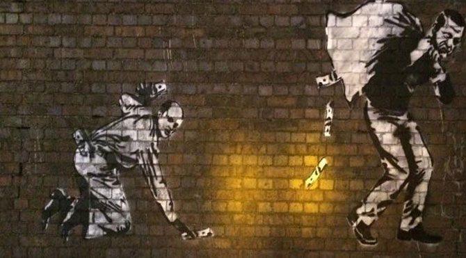 İngiltere bu duvar resmini konuşuyor