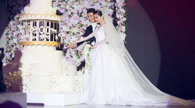 Angelababy 90 milyon liralık düğünle dünya evine girdi