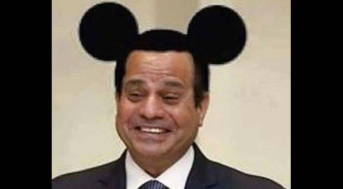 Mısır'da Mickey Mouse kulaklı Sisi fotoğrafı paylaşan Facebook kullanıcısına 3 yıl hapis