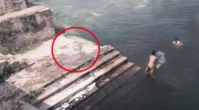 Tarihi göle hayalet mi atladı?