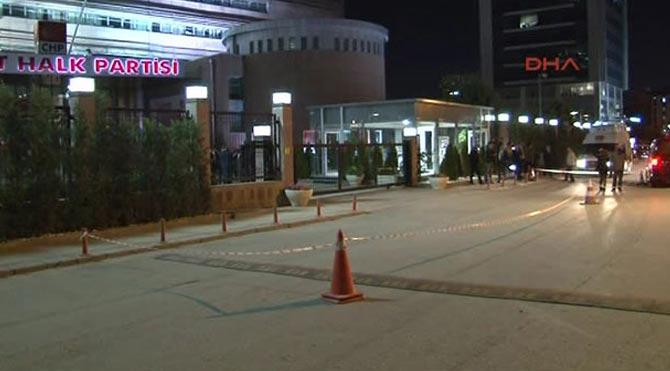 CHP Genel Merkezi'ne kurşun sıkıldı