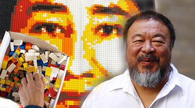 Çinli sanatçıya destek için uluslararası lego kampanyası başlatıldı