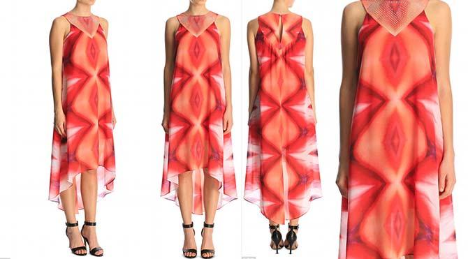 Vajina desenli elbise olay yarattı