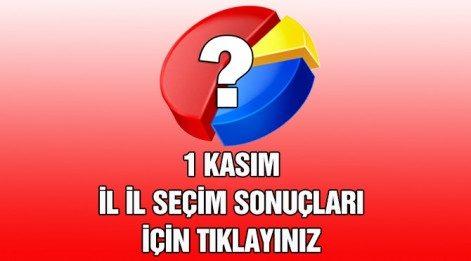 1 Kasım İstanbul Seçim Sonuçları (3. bölge) Son Durum