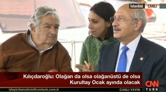 Kılıçdaroğlu Mujica ile kahvaltıda buluştu