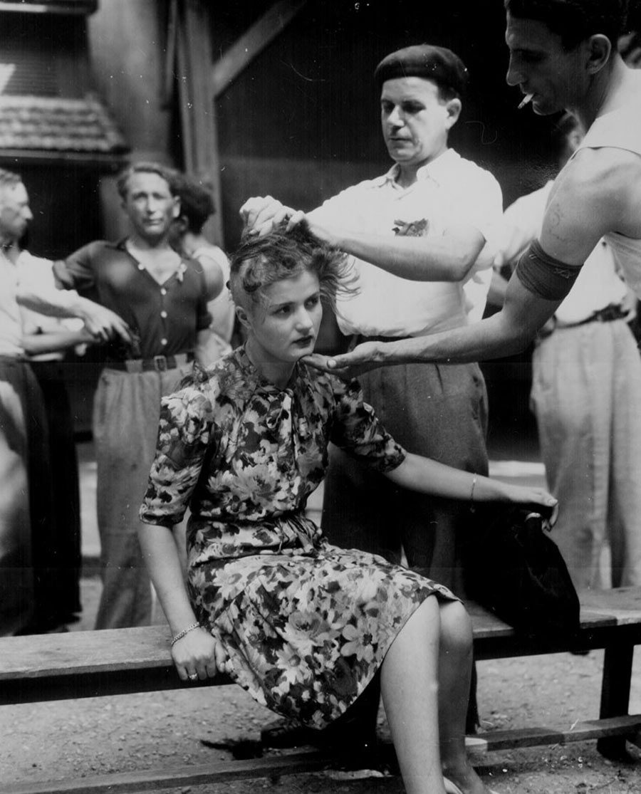 Ağustos 1944 Utanç Naziler ile işbirliği yaptığı için cezalandırılan Fransız…