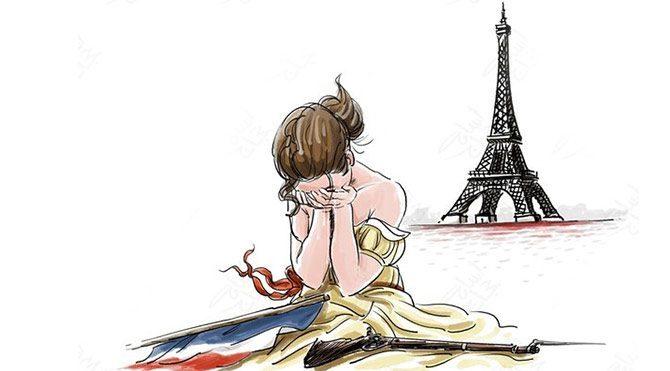 Paris terörü karikatürlerde