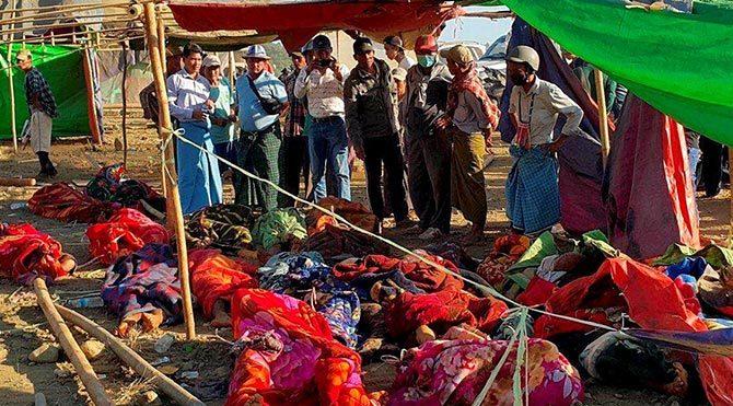 Myanmar'da heyelan felaketi: En az 90 ölü