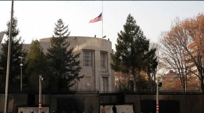 Büyükelçilik hesabını kararttı