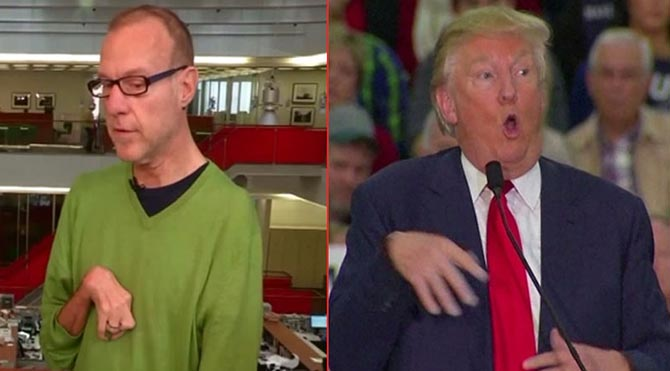 ABD Başkan adayı Donald Trump, engelli muhabirle alay etti