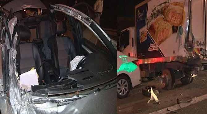 TEM'de korkunç kaza: 1 ölü, 3 yaralı