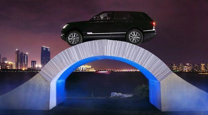 Üzerinden Range Rover geçebilen kağıttan köprü yapıldı!