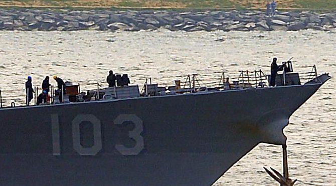 ABD savaş gemisi de Boğaz'dan böyle geçmişti