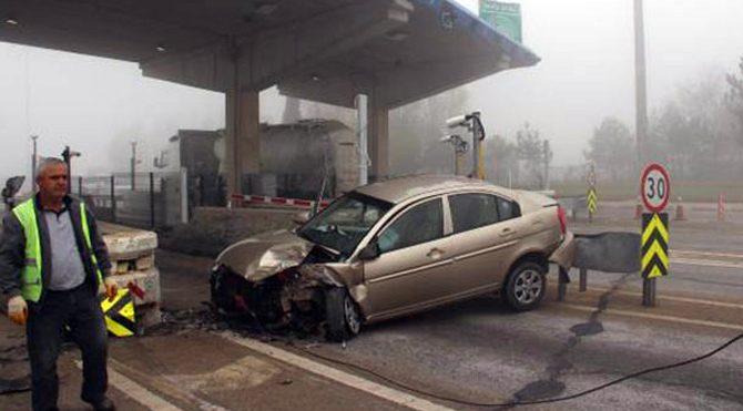 TEM'de sis kazası