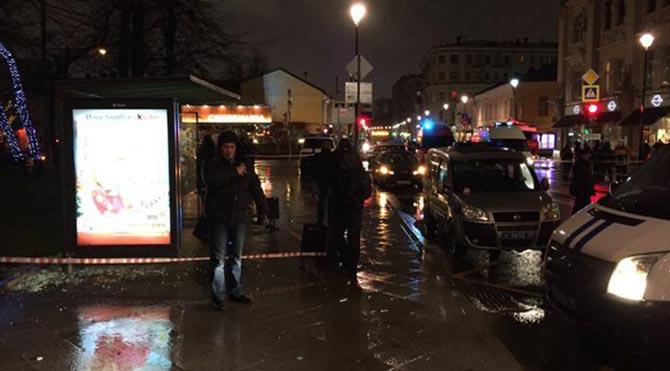 Moskova'da otobüs durağında patlama: 3 yaralı