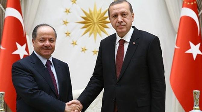 Mesud Barzani Erdoğan ile görüştü