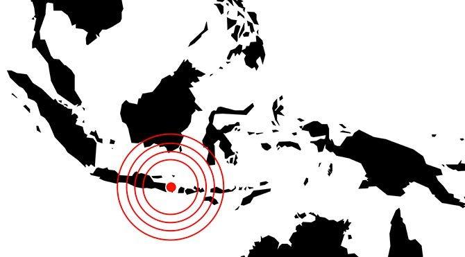 Endonezya'da 7.1 şiddetinde deprem