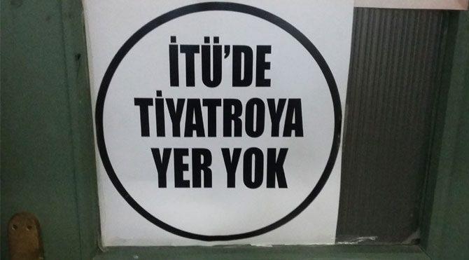İTÜ'de camiye evet, tiyatro sahnesine hayır