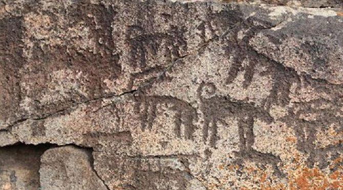 Kars'ta tarih öncesine ait resimler bulundu