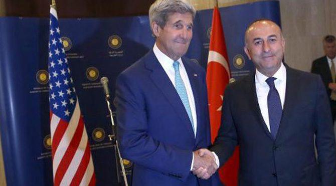 Çavuşoğlu, Kerry ile görüştü