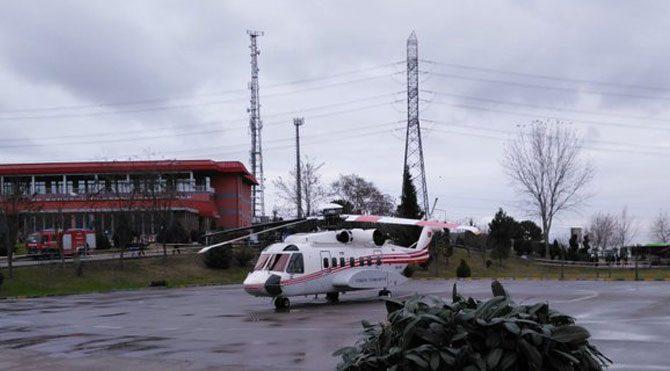 Emine Erdoğan okula helikopterle geldi