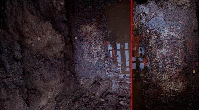 Roma mozaiği koruma altına alındı