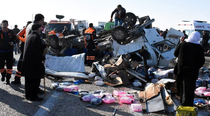 Erciş'te katliam gibi kaza!