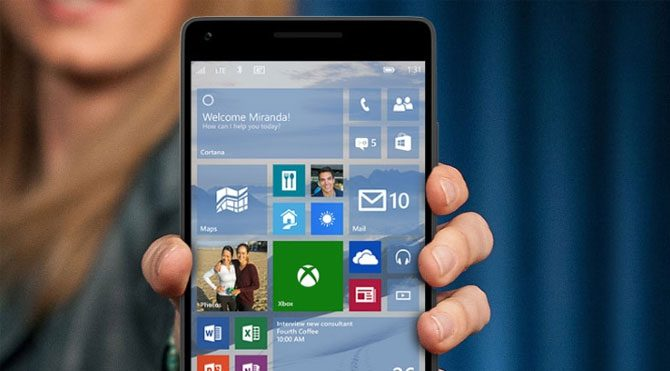 Windows 10 Mobile'a güncelleme