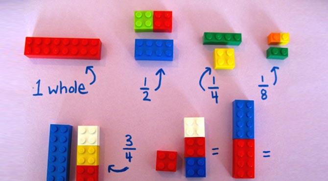 Matematiği legolarla öğretiyor