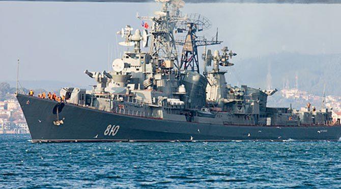 Rus savaş gemisinden Türk teknesine ateş