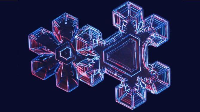 Laboratuvarda üretilen kar taneleri büyülüyor