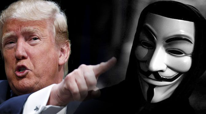 Anonymous, Donald Trump'a saldırdı