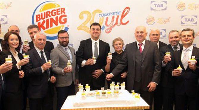 Burger King Türkiye'de 20. Yılını kutluyor