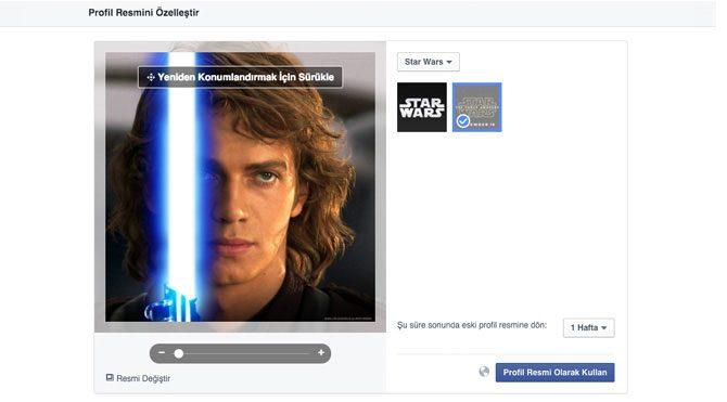Facebook'tan Star Wars güncellemesi