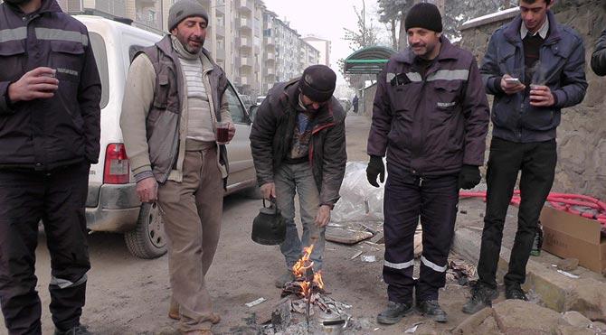 Muş'ta işçilerin mücadelesi