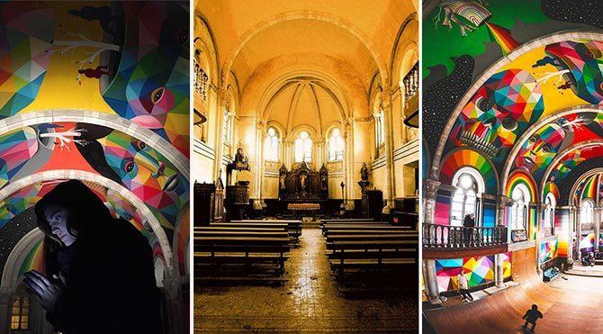 100 yıllık kilise kayak parkı oldu