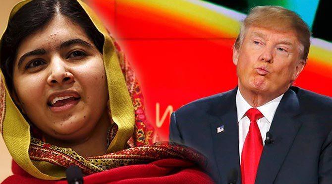 Trump'a ağzının payını Malala verdi