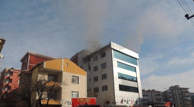 Çerkezköy´deki okulda yangın paniği
