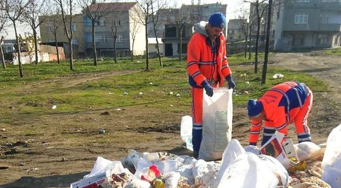 11 çuval ekmeği çöpe attılar