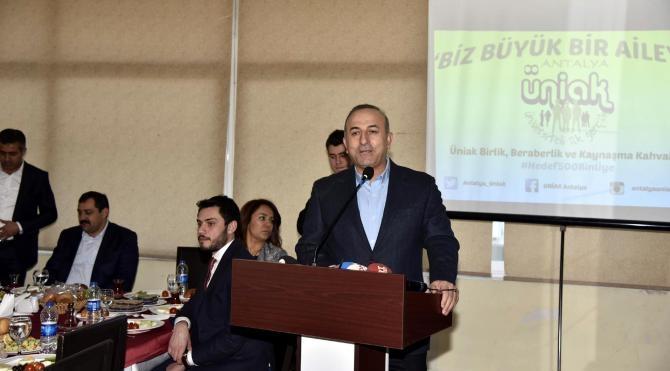 Bakan Çavuşoğlu: Ülkeler arasında yaşanan krizin halklara yansımaması lazım