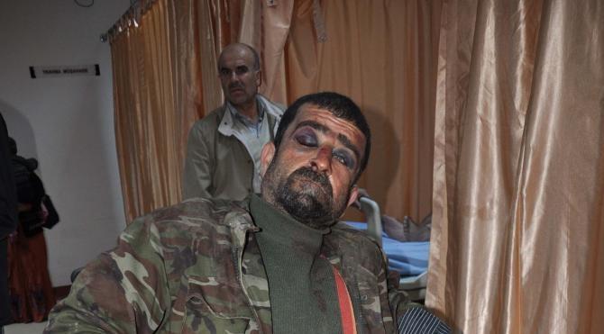 İslahiye`de Suriyeli bekçiyi dövdüler