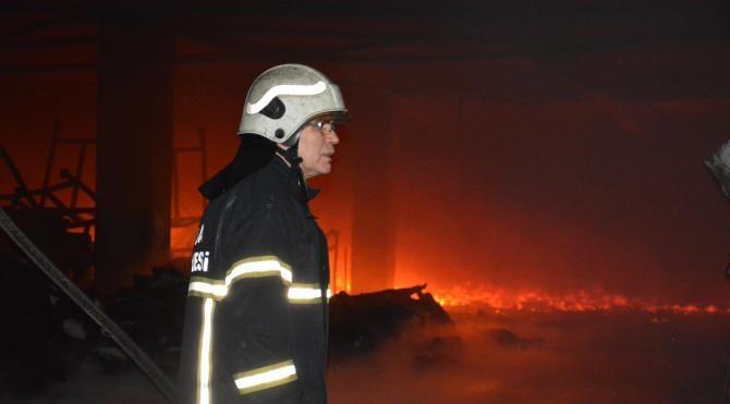 Bursa Demirtaş OSB´de tekstil fabrikasında yangın (4)