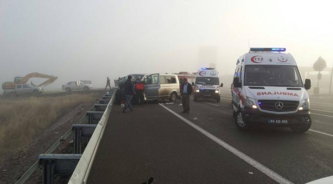 Malatya, Elazığ Karayolunda kaza, 7 yaralı