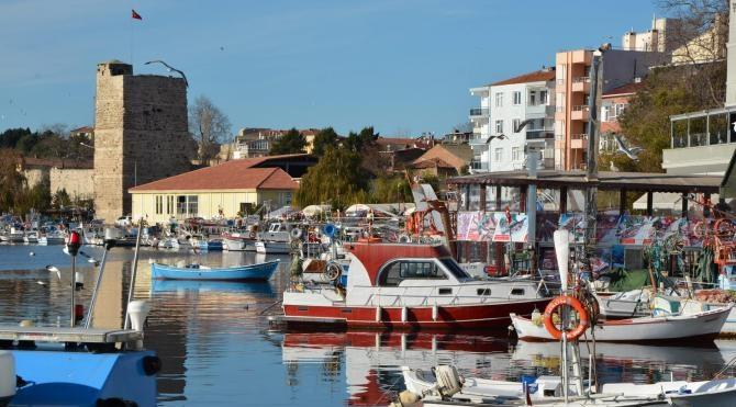Sinop`ta baharı andıran bir hava