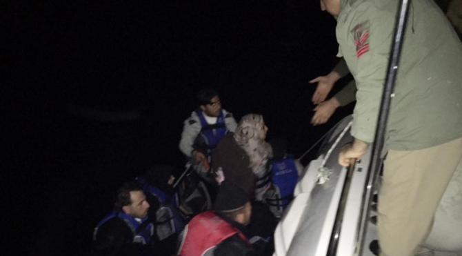 Kaş`ta Suriyeli göçmenler yakalandı