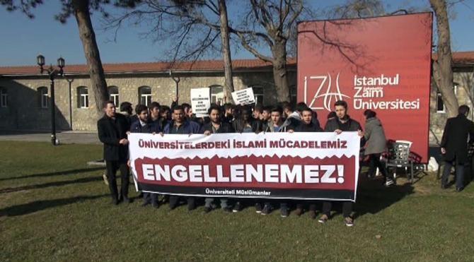 İZÜ`lü öğrencilerden ODTÜ protestosu
