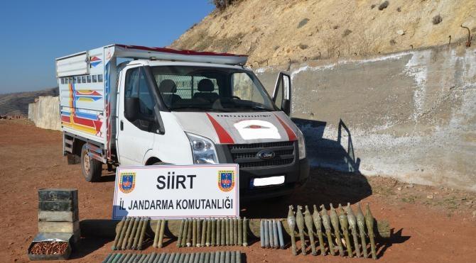 Siirt`te PKK`nın roketatarları ele geçti