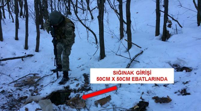 Bitlis´te PKK`ya ait sığınak ele geçirildi