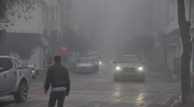 Keşan´da sis etkili oldu