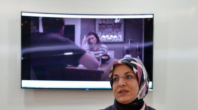 Kadın başkandan, kadına yönelik şiddetle ilgili kısa film